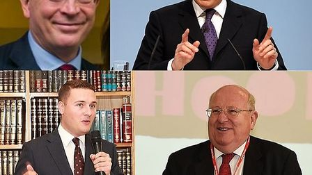 Clockwise: Leyton and Wanstead MP John Cryer, Chingford and Woodford MP Iain Duncan Smith, Ilford So