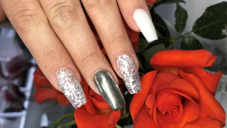 Laura designed these nails, after completing a level 2 and 3 beauty course in nail technology