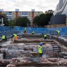 Builders excavated objects dating back to the medieval period as work started on the new homes. Pict