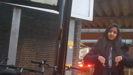Hannah Chowdhry with hire bikes in the borough. Picture: Wilson Chowdhry