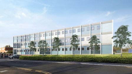 Mock-up plans for temporary accomodation for 30 families in Brocket Way, Hainault. Photo: JDA Archit