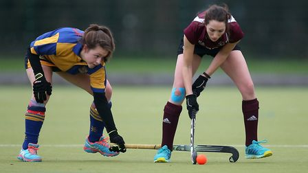 Upminster HC Ladies 2nd XI vs Wapping HC Ladies 3rd XI, Essex Women's League Field Hockey at the Coo