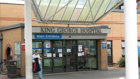 King George Hospital, in Goodmayes.