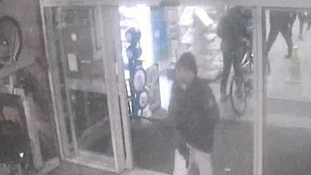Mohammed Maow was caught on CCTV holding the gun at Basildon station. Picture: BTP