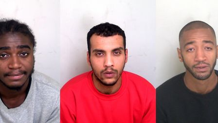 Mark Bonsu, Salih Bulbuller and Wesley Williams. Picture: Essex Police