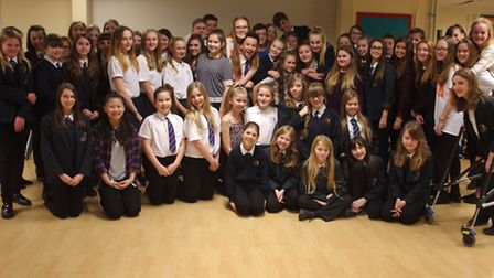 The 'Christmas at the Movies' show is being held at Benjamin Britten Music Academy. Cast Picture