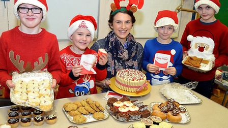A cake sale was held at the Christmas Fair at Meadow Primary School in Lowestoft.