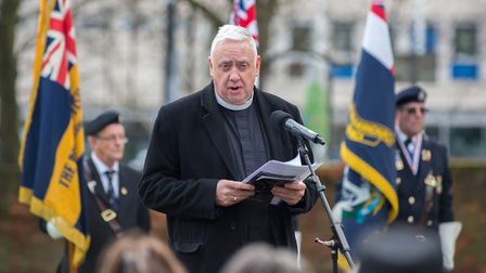 Vicar of St Edward the Confessor, Market Place, Romford Market, Romford, Reverend Mike Power at the