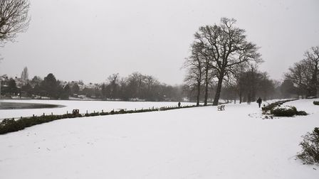Raphael Park in the snow. Photo: Ken Mears