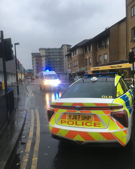 Police in Romford. Photo: Liam Coleman