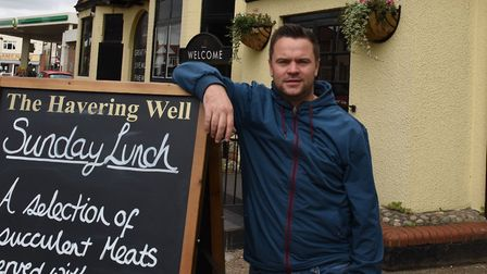Jay Fleming outside of the Havering Well pub in Rush Green. Photo: Ken Mears/Archant