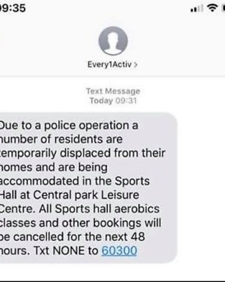 Members of the gym were sent a text message this morning warning them that classes had been cancelled.