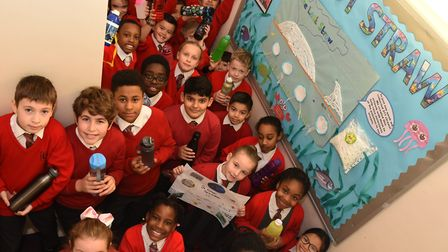 Pupils at St Ursula's Catholic Junior School have embarked on a major project to reduce their use of