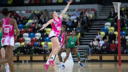 Action from London Pulse's match against Celtic Dragons at the Copper Box Arena