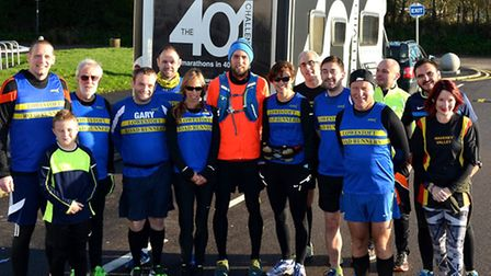 Ben Smith has set himself the gruelling task of running 401 marathons in as many days. Pictured at W