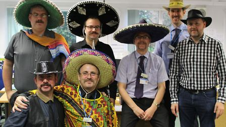 The Finance Management and Catering teams at JPUH have been sporting some impressive facial hair –fo