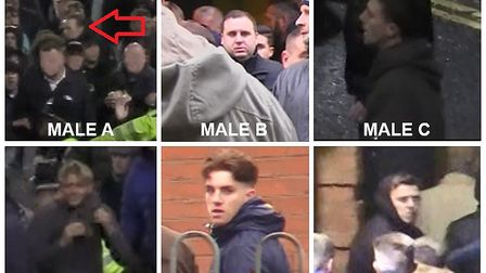 Police would like to speak to these six men. Pic: Leicestershire Police