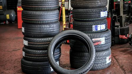 A stock picture of car tyres. Photo: Ben Birchall