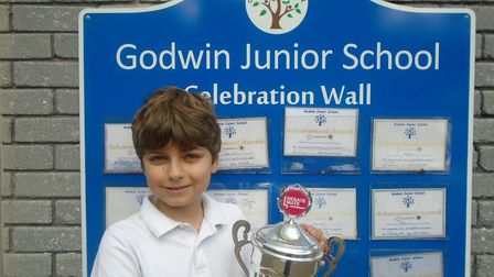 Zachary El Darsh took part in the debate.� Picture: GODWIN PRIMARY