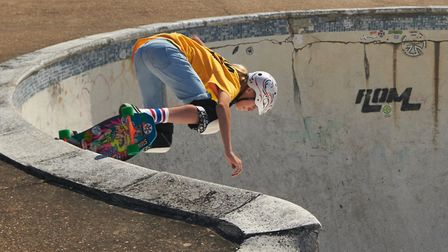 Rom SKatepark in Upper Rainham Road celebrated its 40th annviersary with a creative lifestyle, Hardl