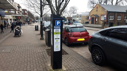 Havering council are proposing to cut 30 minutes of free car parking in Upminster. Photo: Ken Mears