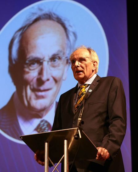 Peter Bone speaking at the Leave Means Leave Rally at the National Conference Centre in Solihull. Ph