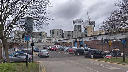 Units on the Thornham Industrial Estate in Leyton Road were sold for £540,000. Picture: Google Stree