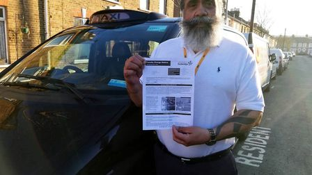 Ilford black cab driver Onkar Singh estimates that he is out of pocket by £555 after fighting a fine