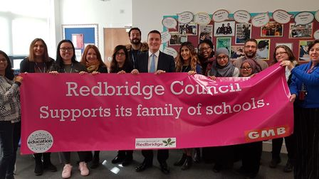 Ilford North MP Wes Streeting visited William Torbitt Primary School on Monday in support of protest
