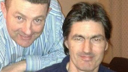 Alan Robinson with his brother Ricky Robinson who was found dead at the foot of a multi-storey car p