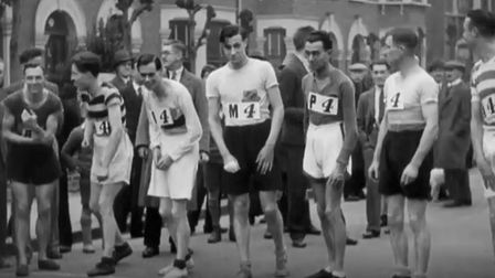A short newsreel showing highlights of a 40-mile relay race round Ilford in 1929. Photo: BFI Nationa