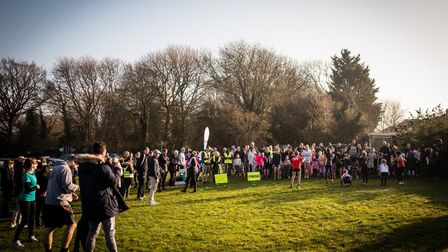 Volunteers and runners at Harrow Lodge Juniors 250th parkrun at the weekend. Photo: Felix Forrest