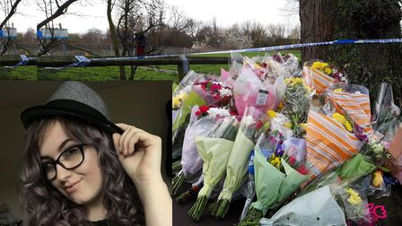 Tributes have been left to Jodie Chesney outside a park in Harold Hill where she was stabbed to deat