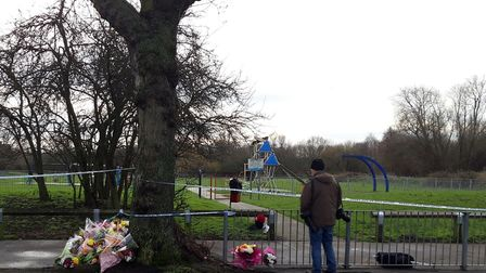 Tributes have been left in memory of Jodie Chesney who was stabbed to death in Harold Hill. Photo: K