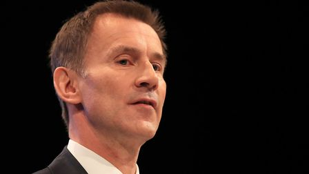 Jeremy Hunt, the foreign secretary. Photograph: Peter Byrne/PA.