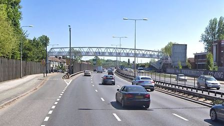 The crash happened on the westbound A13 in Beckton. Picture: Google Maps