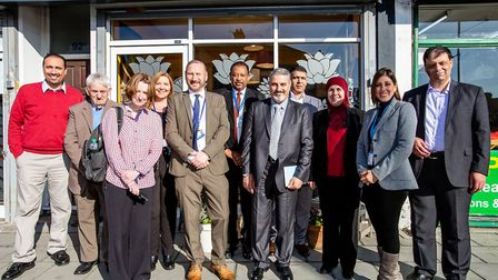 Seven delegates from the Jordanian government's Department of Social Care visited disability charity