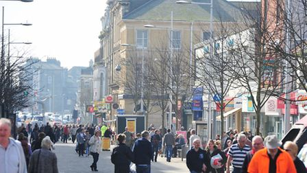 The town has been busy as shoppers in Lowestoft try to bag a bargain. Photo: Nick Butcher/Library