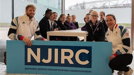 The National Junior Indoor Rowing Championships are taking place at the Copper Box Arena