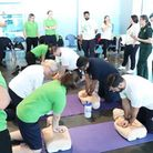 GLL staff learning life-saving skills at Queen Elizabeth Olympic Park. Picture: Awil Mohamoud
