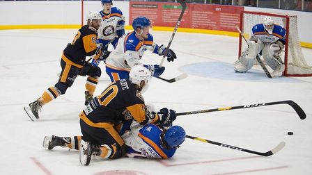 Action from the match between Raiders and Peterborough (pic John Scott)