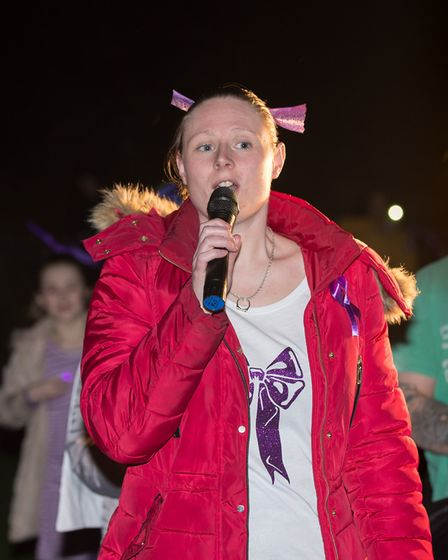 Hundreds of people gathered at Amy's Park in Harold Hill tonight at a vigil to remember teenager Jod
