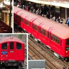 The 1938-Stock underground train took passengers on a trip back in time yesterday. Photo: Simon Pool