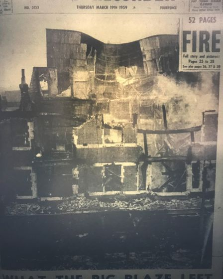 A small selection of the Ilford Recorder's coverage of the Harrison Gibson fire 60 years ago. Photo: