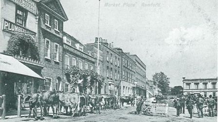 Romford Market in 1900. In 1776 Mary Wilks was whipped in the market. Picture: Brian Evans