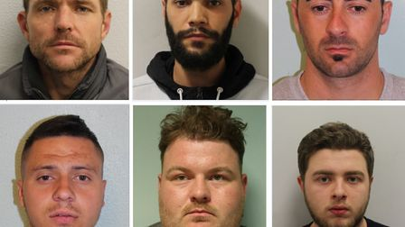 These six men out of the 38 wanted people allegedly committed crimes in east London including in Il