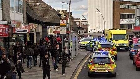 Officers were called to a stabbing. Photo Hanif Riad.