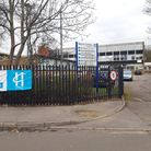 A police cordon remains in place outside Havering College Quarley Campus. Photo: Ken Mears