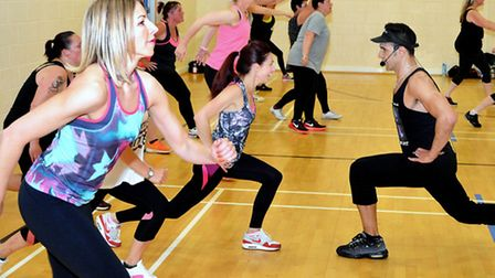 Former X Factor hopeful Chico also held a Blockfit masterclass in Lowestoft last year. Pictures: MIC