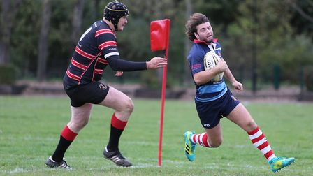 Old Cooperians score a try against Millwall in the previous meeting between the sides in London Thre